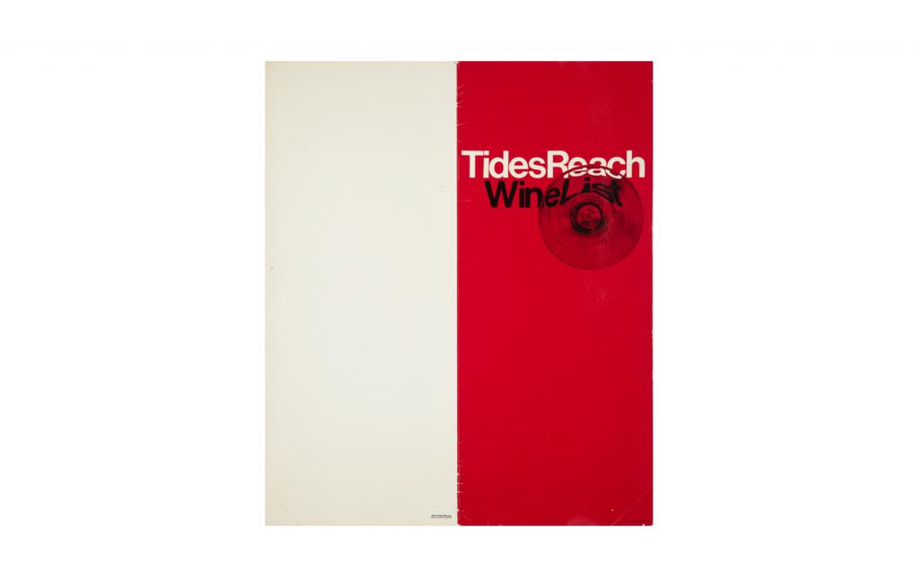 Tides Reach Hotel Wine List