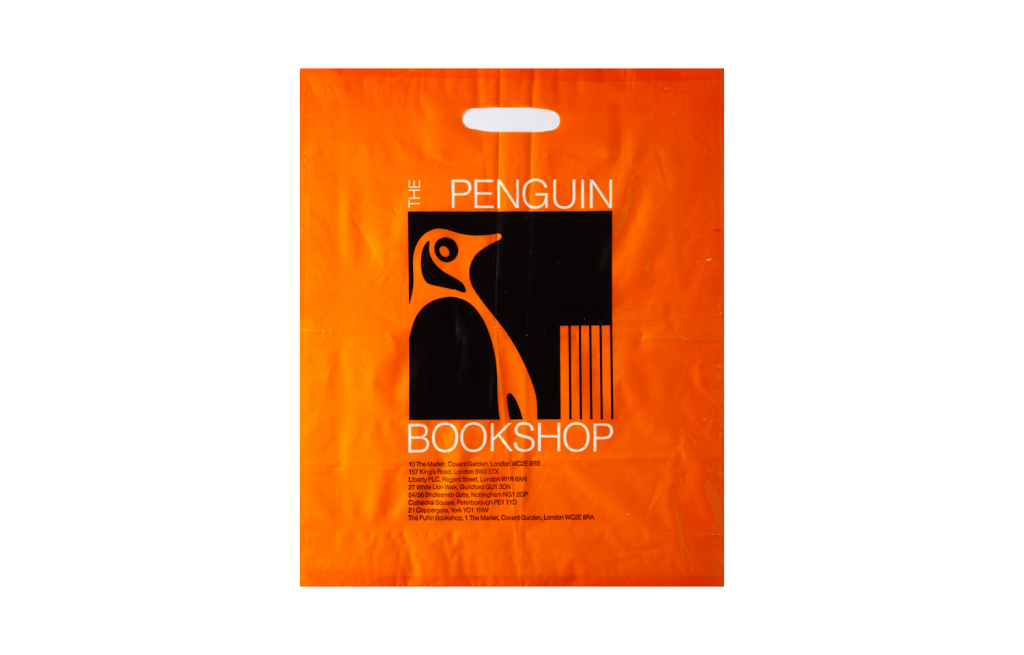 Carrier bag for the Penguin Bookshops with logo