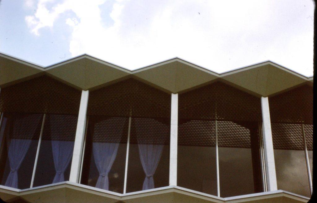 July 1959, Detroit – Yamasaki's McGregor Memorial at Wayne