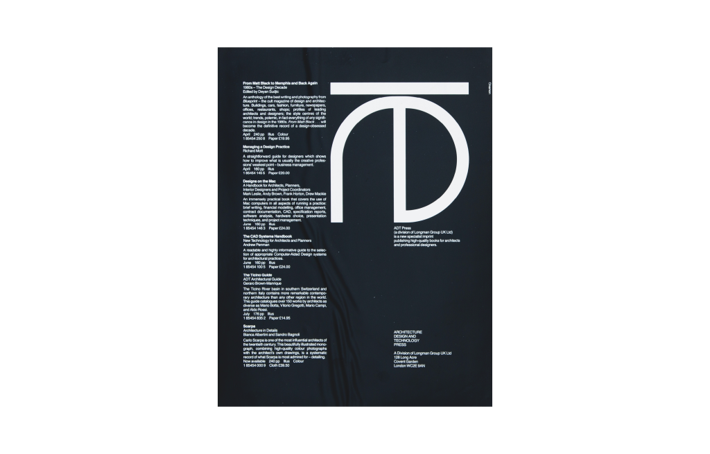 Architecture, Design and Technology Press
